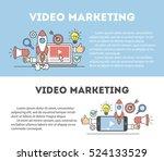 video marketing concept.... | Shutterstock .eps vector #524133529