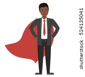 businessman in red cape... | Shutterstock .eps vector #524135041