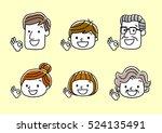 face  facial expression  ok sign | Shutterstock .eps vector #524135491