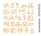 cleaning icons set. isolated... | Shutterstock .eps vector #524135521