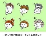 face  facial expression ... | Shutterstock .eps vector #524135524