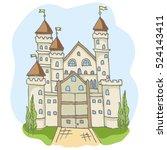 hand drawn doodle cartoon fairy ... | Shutterstock .eps vector #524143411