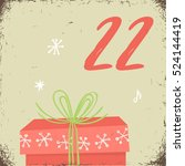 christmas advent calendar set.... | Shutterstock .eps vector #524144419