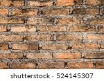 close up of old brick wall | Shutterstock . vector #524145307