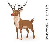 reindeer christmas vector... | Shutterstock .eps vector #524145475
