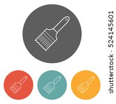 paintbrush icon | Shutterstock .eps vector #524145601