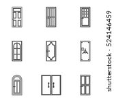 exterior doors icons set.... | Shutterstock .eps vector #524146459
