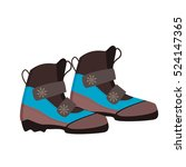 skiing shoes winter sport... | Shutterstock .eps vector #524147365
