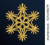 golden glitter unusual... | Shutterstock .eps vector #524148679