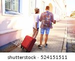 two travelers on vacation... | Shutterstock . vector #524151511