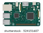 diy electronic mega board with... | Shutterstock .eps vector #524151607