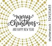 merry christmas phrase. vector... | Shutterstock .eps vector #524151655