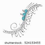 hand drawn sketch doodle roller ... | Shutterstock .eps vector #524153455