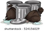 trashcans and garbage bags...   Shutterstock .eps vector #524156029