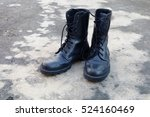 pair of black old army working... | Shutterstock . vector #524160469