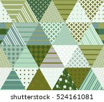 seamless patchwork pattern from ...