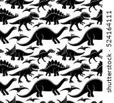 cute dinosaurs pattern for... | Shutterstock .eps vector #524164111