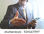 success businessman open his... | Shutterstock . vector #524167597