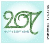 happy new year. 2017. number of ...   Shutterstock .eps vector #524168401