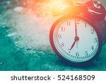 Closeup Vintage Clock Selectiv...
