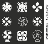 fan vector icons set. white... | Shutterstock .eps vector #524169349