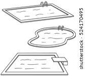vector set of swimming pool | Shutterstock .eps vector #524170495