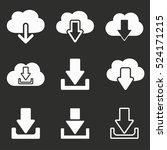 download vector icons set.... | Shutterstock .eps vector #524171215