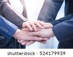 image of businesspeople hands...   Shutterstock . vector #524179939
