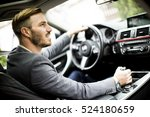 young man driving in the ... | Shutterstock . vector #524180659