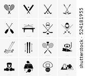 sport symbols | Shutterstock .eps vector #524181955