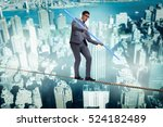 businessman doing tightrope... | Shutterstock . vector #524182489