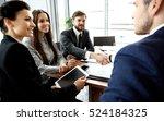 business people shaking hands ...   Shutterstock . vector #524184325