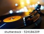 turntable vinyl record player.... | Shutterstock . vector #524186209