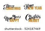 """merry christmas   happy new... | Shutterstock .eps vector #524187469"