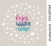 christmas card template. hand... | Shutterstock .eps vector #524189569