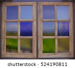stained glass window of colored ... | Shutterstock . vector #524190811