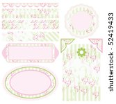 vector set of elements for... | Shutterstock .eps vector #52419433