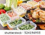 stir fry vegetables frozen in... | Shutterstock . vector #524196955