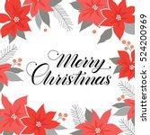 merry christmas card. red... | Shutterstock .eps vector #524200969