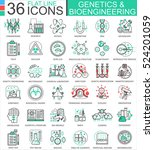 vector genetics and... | Shutterstock .eps vector #524201059