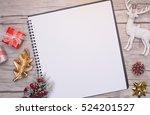 christmas letter writing on... | Shutterstock . vector #524201527