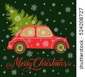 christmas vector illustration... | Shutterstock .eps vector #524208727