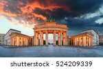 Stock photo brandenburg gate berlin germany panorama 524209339
