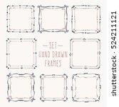 set hand drawn line border....   Shutterstock .eps vector #524211121
