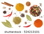 colorful spices and herbs for... | Shutterstock . vector #524213101