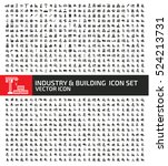 industry and building icon set... | Shutterstock .eps vector #524213731