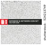 database and network icon set... | Shutterstock .eps vector #524213749