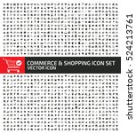 commerce and shopping icon set... | Shutterstock .eps vector #524213761