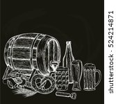 vintage beer illustration on... | Shutterstock .eps vector #524214871
