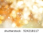 Abstract Gold Bokeh With Snow ...